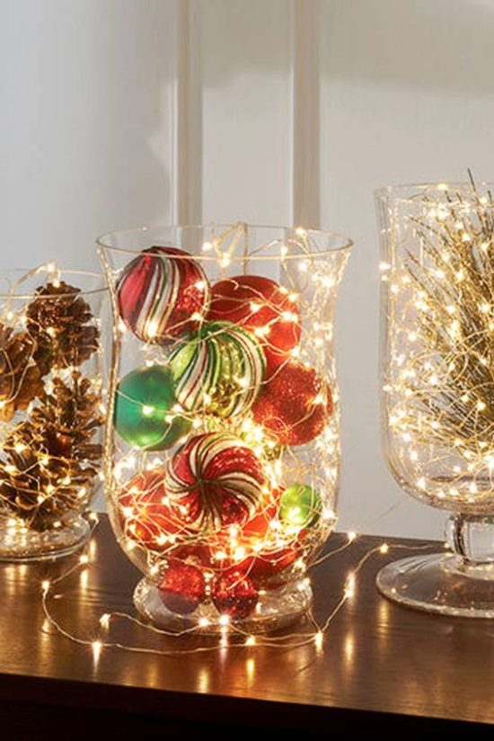 ornaments with glimmer strings