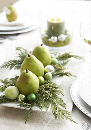 pear christmas centerpiece