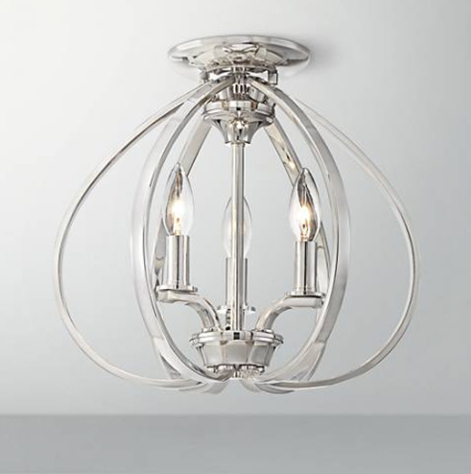 polished nickel chandelier