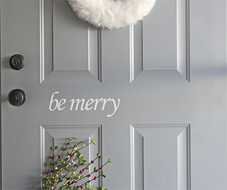 DIY Christmas Decals for Your Door