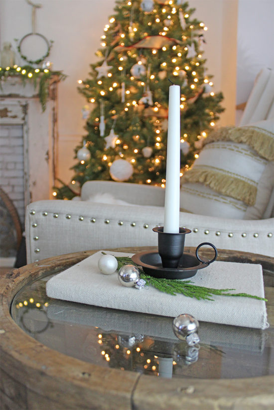 old fashioned style candle holders for Christmas