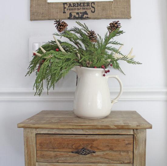 Christmas garland flower arrangement