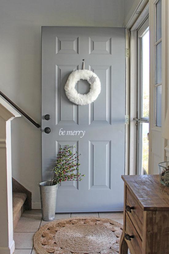 Christmas decorating ideas for your front door Christmas front door decal & DIY Christmas Decals for Your Door - pezcame.com