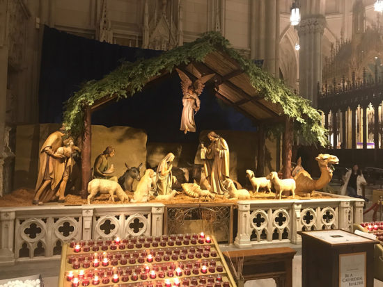 Nativity at St Patrick's Cathedral NYC