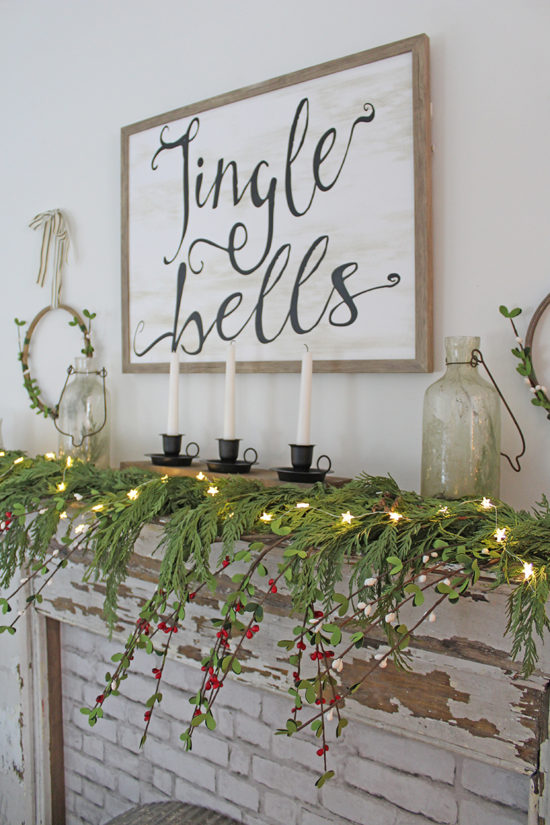 Nostalgic Christmas Decor Farmhouse mantel, Christmas decorating ideas
