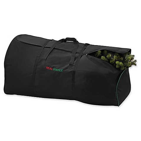 real simple black Christmas tree storage container bag