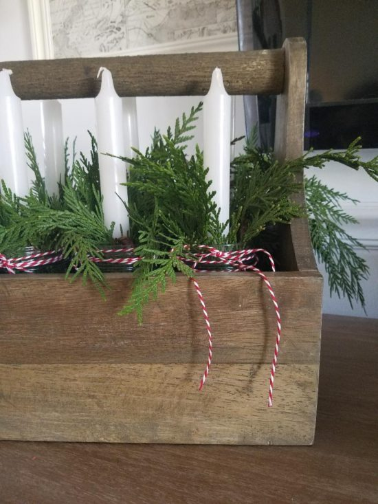 Christmas greenery, decorating with Christmas garland