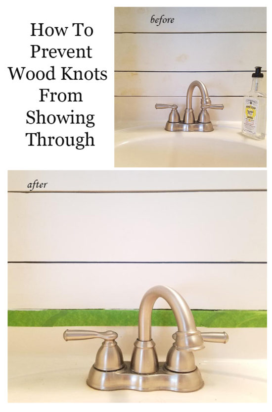 How to prevent wood knots from showing through paint PIN wood paint