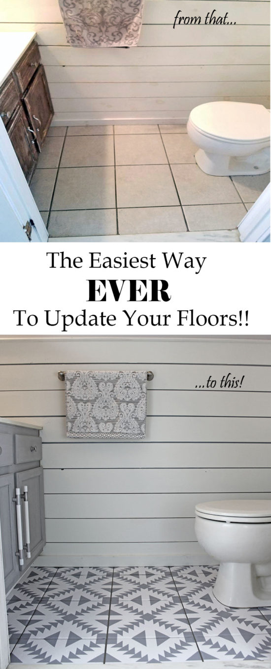 This is the easiest way ever to update your floors and it's not paint!! Flooring ideas you have to see! PIN