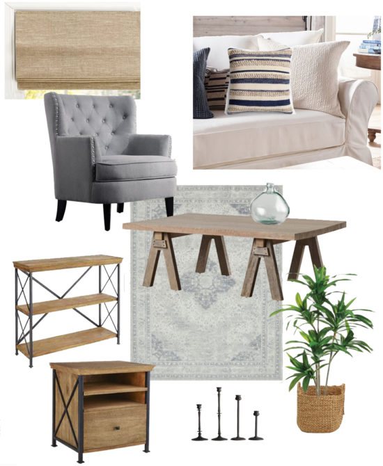 get the look of this neutral living room design board