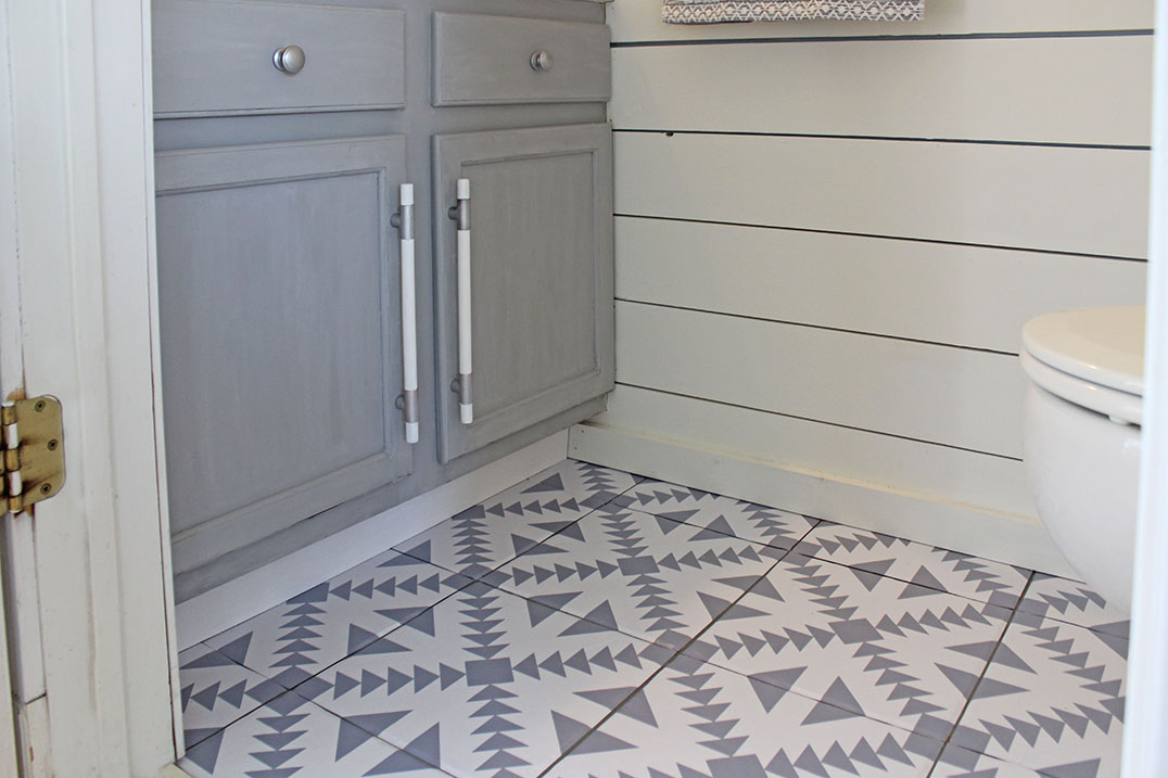 how to update your floors with floor stickers decals