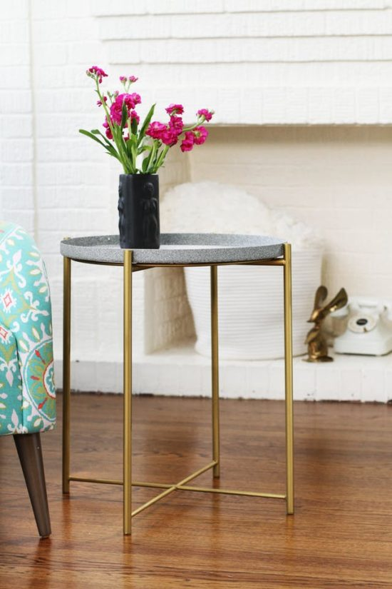 painted ikea table makeover