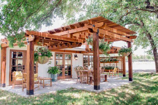 patio pergola fixer upper