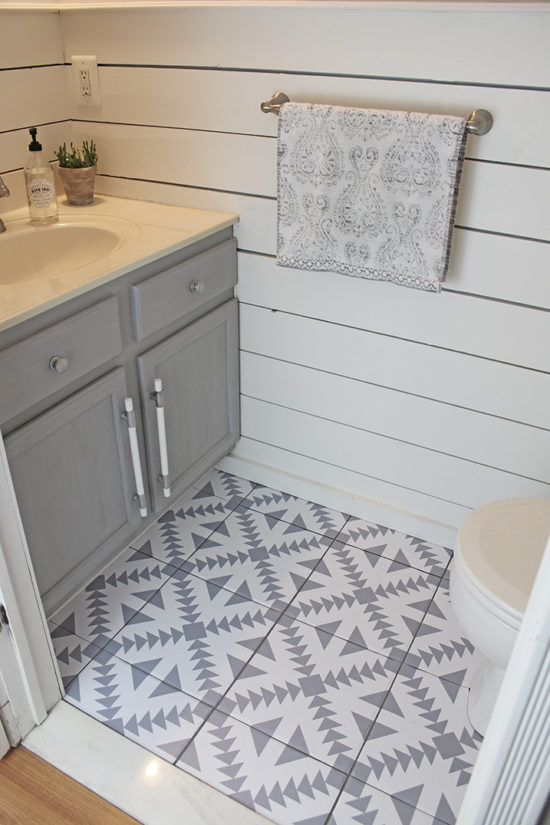 update your floors the easy way with tile stickers or tile decals!