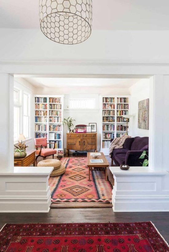 warm living room with books five for friday