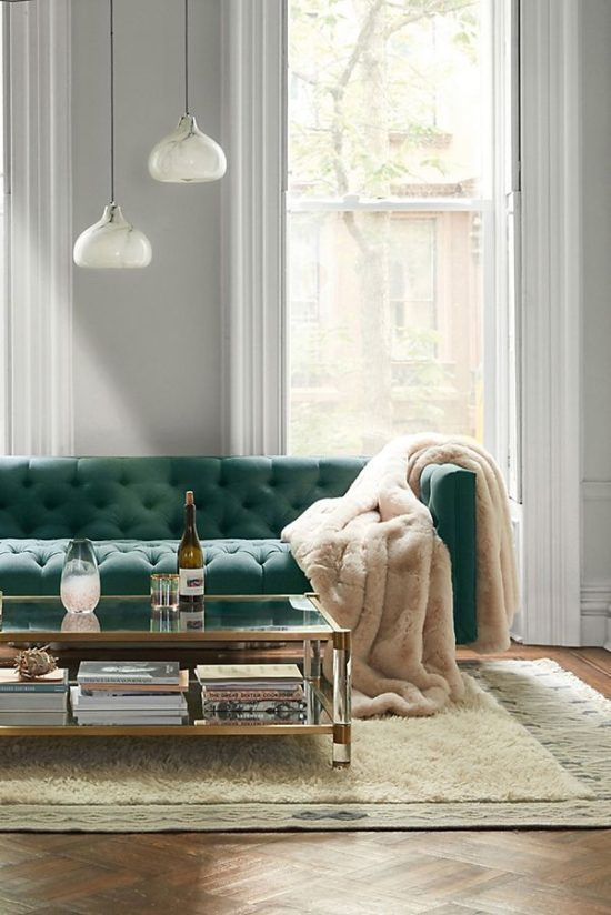 Anthro emerald sofa design picks