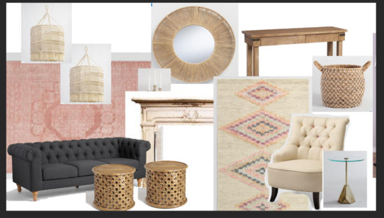 Design board with 2 rugs