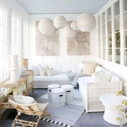 weekend design picks enclosed sunporch from Serena and Lily