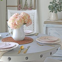 Spring tablescape pink hydrangea FI