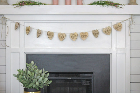 Wooden Hearts, Valentine's Day Mantel