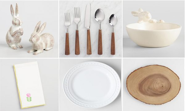 Woodland Theme Table Setting for Easter