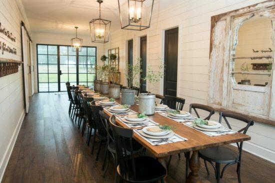 fixer upper dining room