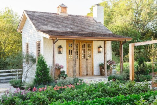 fixer upper garden shed exterior, chip and joanna gaines