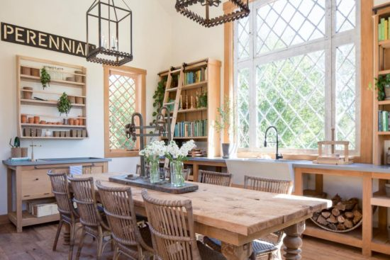 chip and joanna gaines, fixer upper garden shed interior