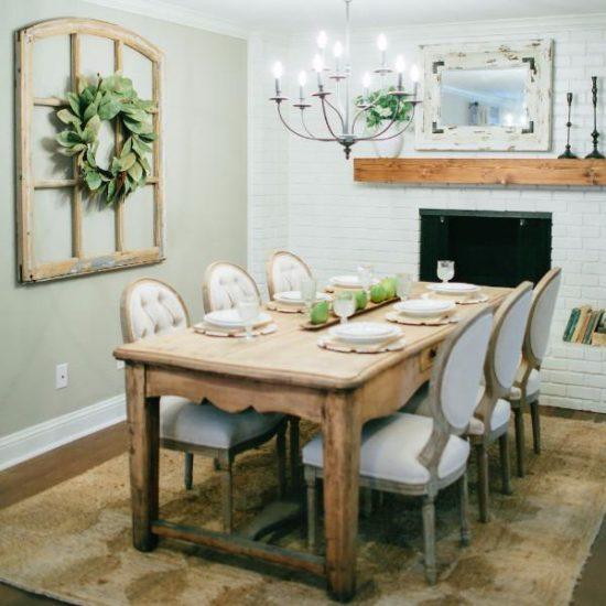 magnolia wreath dining room fixer upper