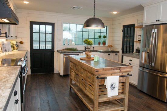 rustic kitchen island fixer upper