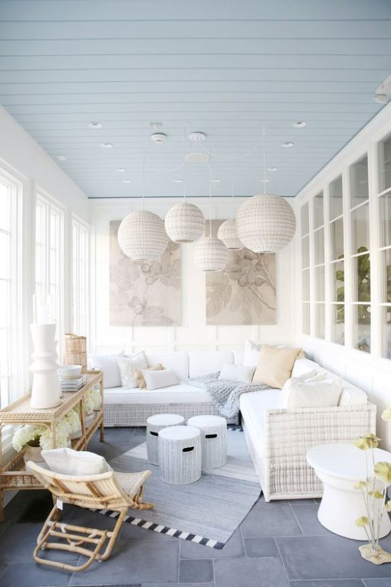 serena and lily enclosed porch white porches