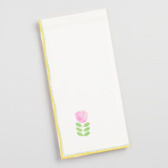 spring napkins floral
