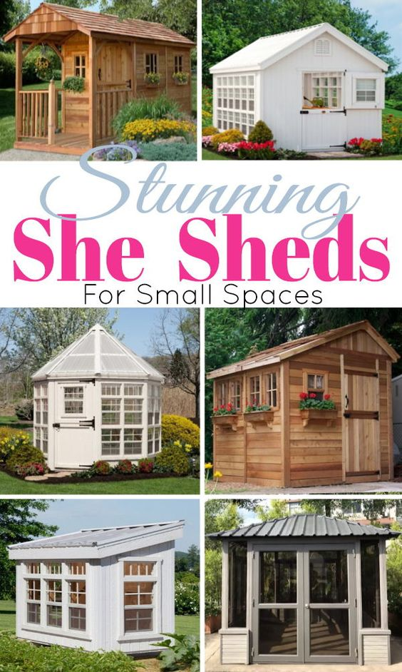 Have you heard of the she shed yet? Think of a fun little shed all decked out and decorating for the ladies. With comfy chairs, or a dining table, or even a bar the idea is adorable and the possibilities are endless!
