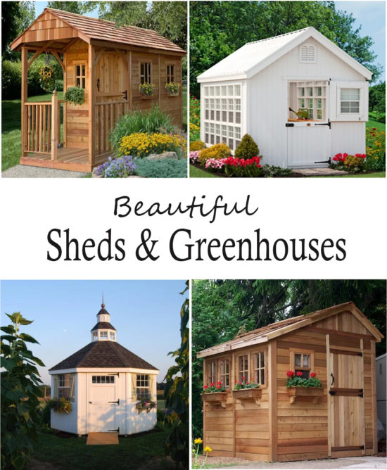 Beautiful Sheds and Greenhouses, possible she shed ideas !