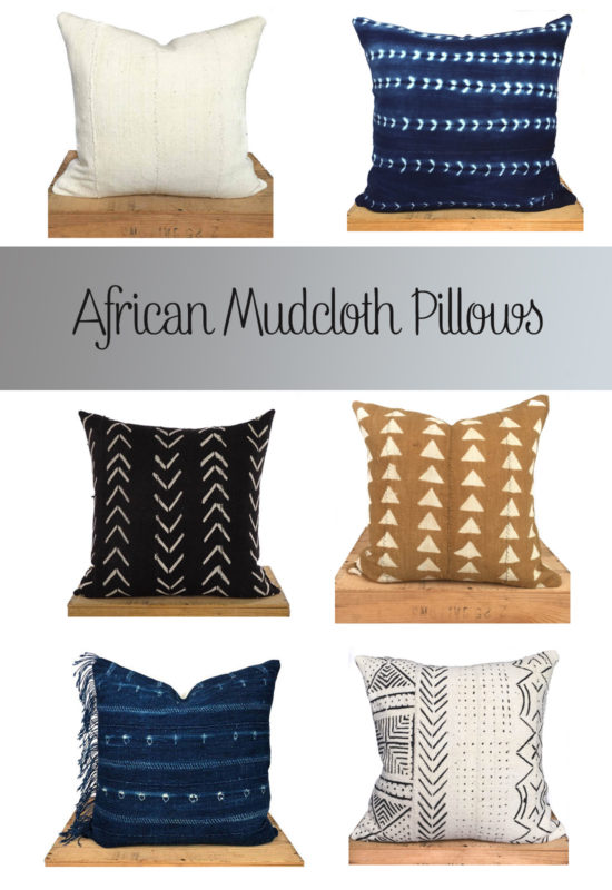 Giveaway! The interesting history behind African Mudcloth, and how to enter to win a mudcloth pillow cover! PIN