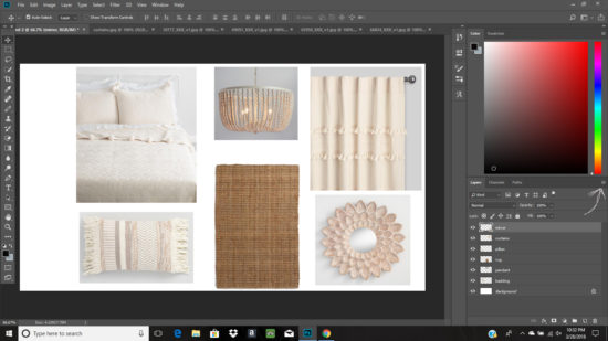 How to Make A Mood Board with Photoshop - The Honeycomb Home