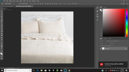 how to move an image in photoshop
