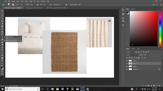 how to use magic eraser tool in photoshop to remove a background