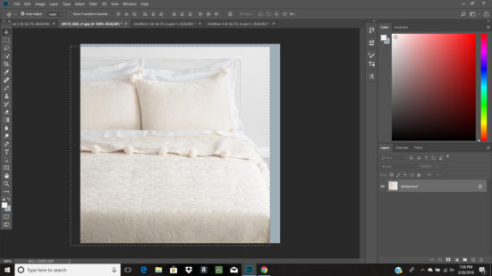 moving an image in photoshop