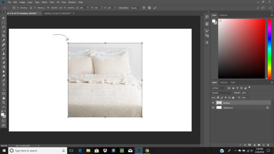 resizing layers in photoshop