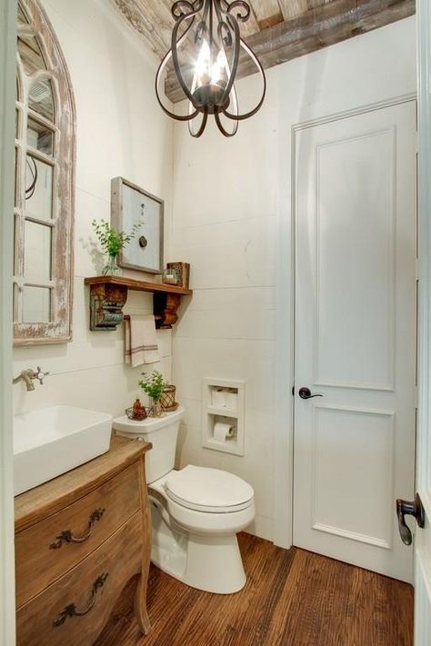 Black Rustic Bathroom Vanity: 13 Small Bathrooms With Big Impact