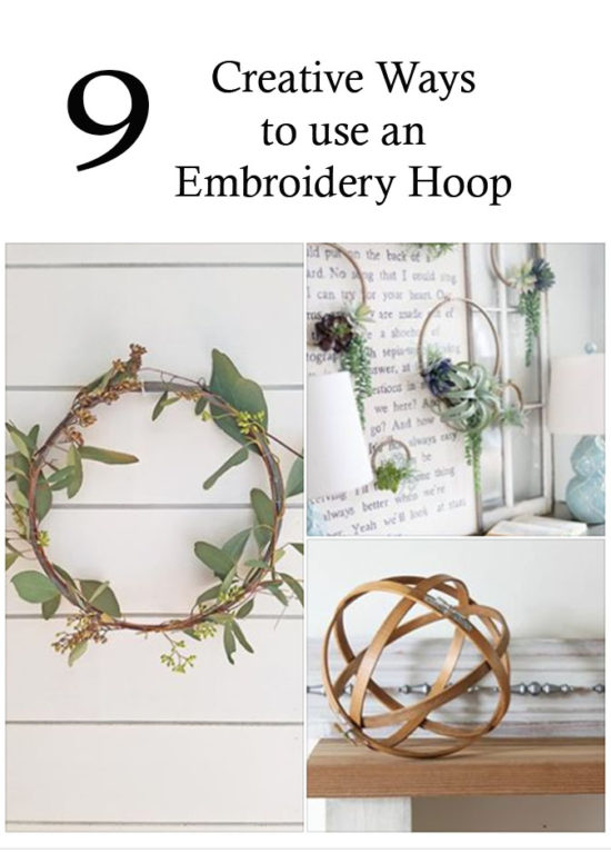 9 Creative Ways to use an embroidery hoop, home decor DIY craft ideas