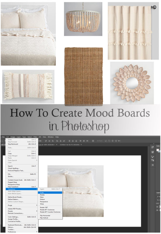 How to create mood boards in Photoshop, easy to understand guide to making your own design boards!