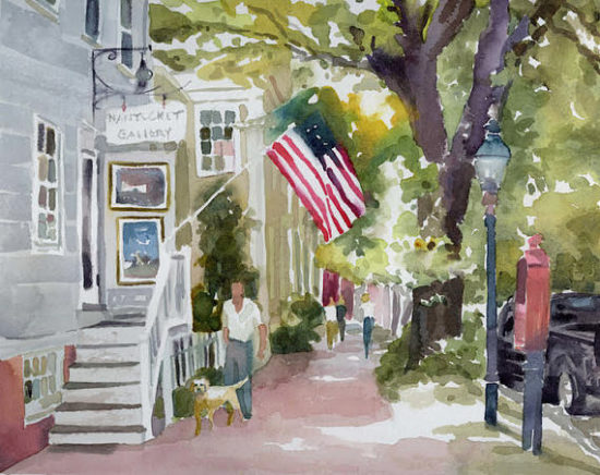 Nantucket Watercolor Painting, canvas painting