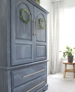 Painted armoire makeover FI