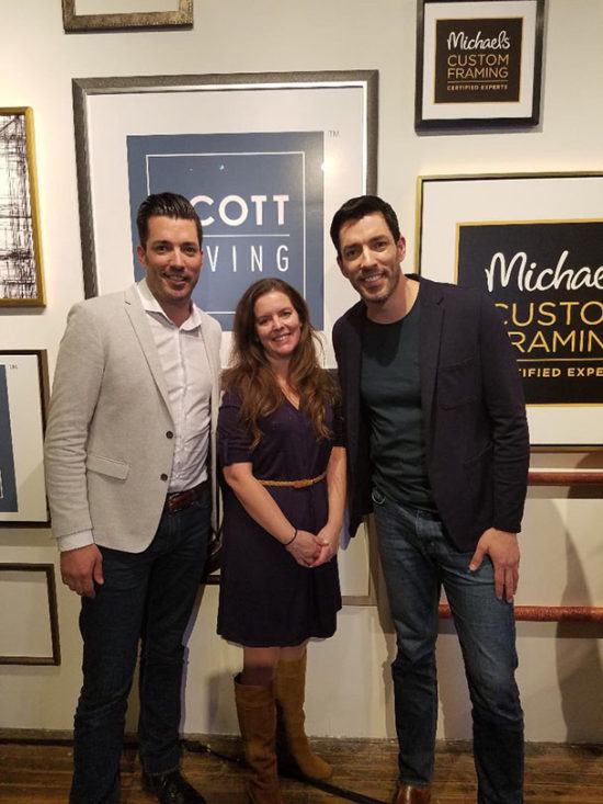 The Honeycomb Home with the Property Brothers, custom framing Scott Living collection