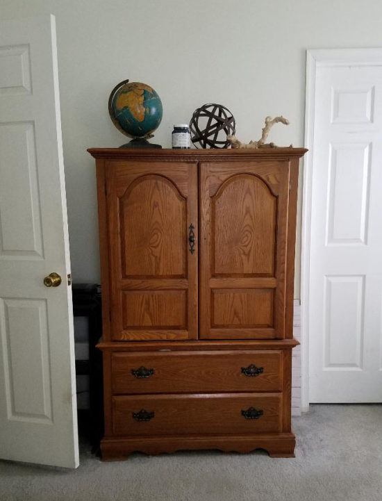 painted furniture, armoire before