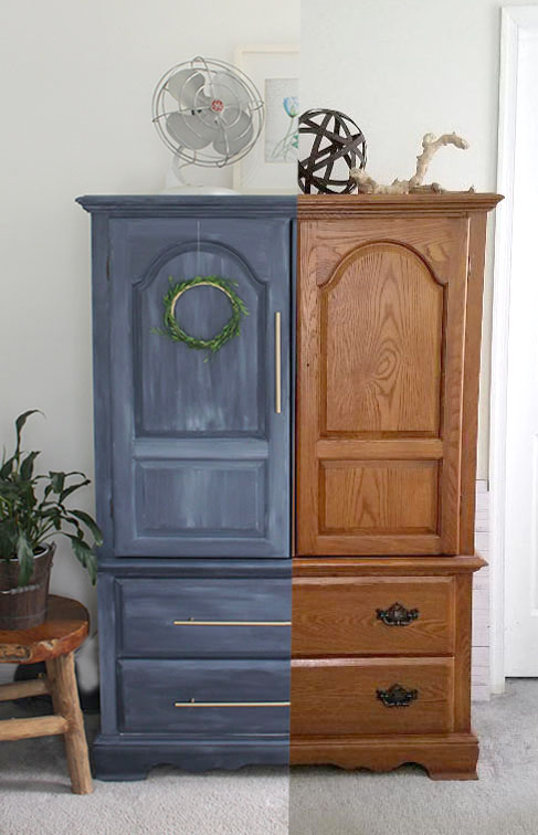 armoire before and after makeover