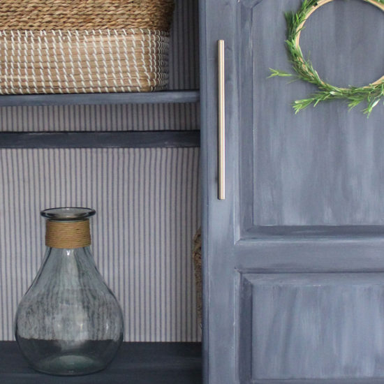 blue painted furniture, armoire makeover the honeycomb home