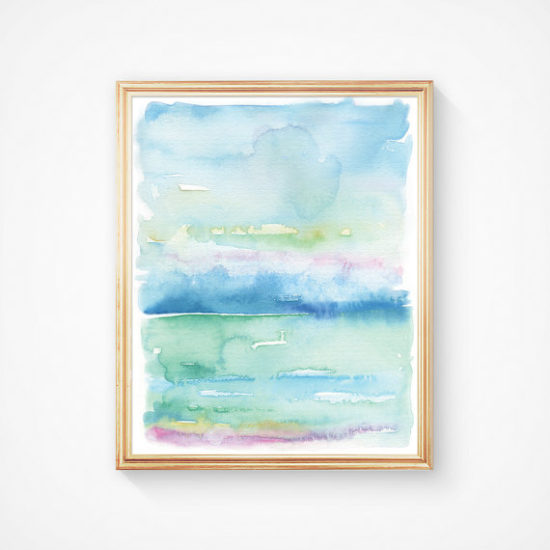 beachy watercolor, watercolor painting ideas